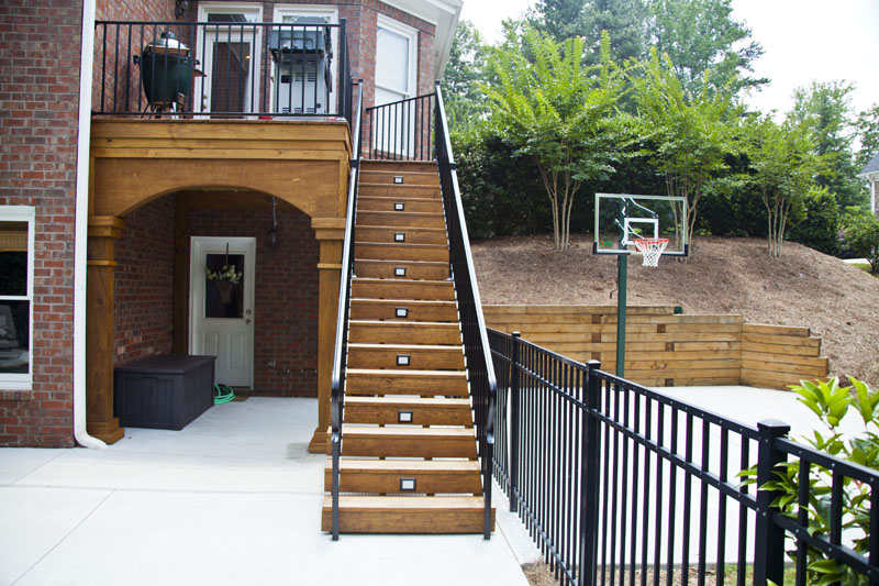 2 Small Grill Deck With Powder Coated Railing