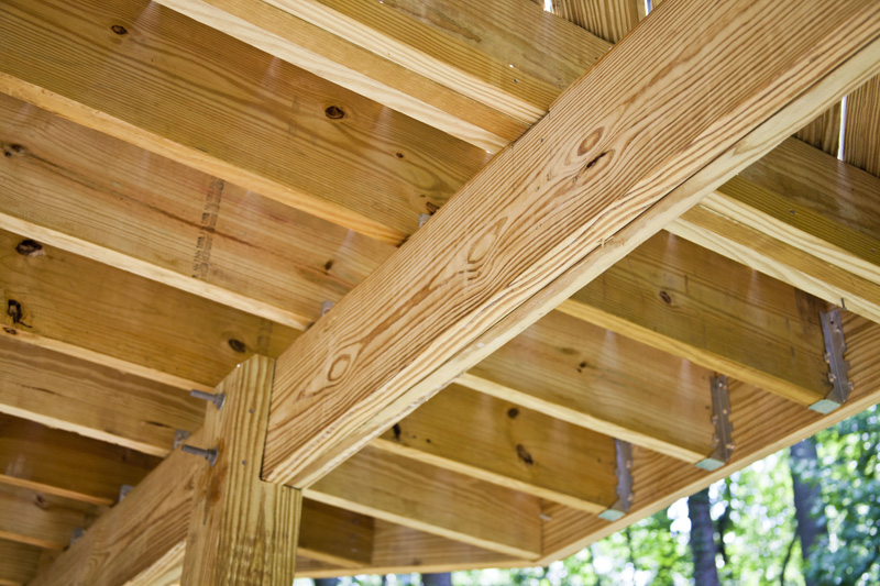 8 Post And Beam Attachment To The Deck Joist Tailor Decks
