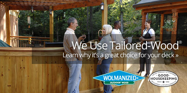Why We Use Wolmanized Wood for Our Decks