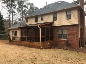 Athens Georgia deck project